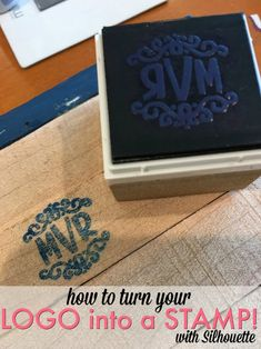 Turn Your Business Logo into a Custom Stamp with Silhouette Mint (Plus Free Mint Templates & Coupon) (Silhouette School) Silhouette Mint, Silhouette School Blog, Silhouette Cameo Machine, Silhouette Cameo Projects, Silhouette Studio, Card Sentiments, Logo Restaurant, How To Make Logo, Stamp Making