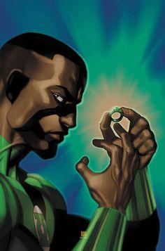 jon stewart green lantern | Comics: Green Lantern Corps #21 Featuring John Stewart