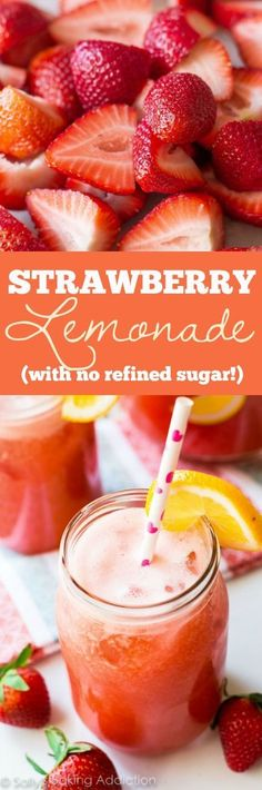 Cold and refreshing, this 4 ingredient strawberry lemonade has ZERO refined sugar and is FULL of incredible, healthy flavor!