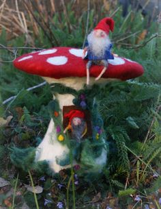 Gnome house 11 by FairyfeltbySiSo on Etsy