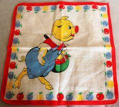Vintage 1940's50's Children's Handkerchief by allthingsoldarenew, $15.00