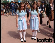 These might be Comic-Con costumes, but I LOVE these dresses! and knee socks....
