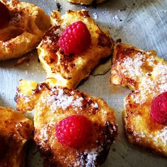 What better way to finish a special #breakfast with special guests than with #rustic #French #toast topped with fresh #raspberries drizzled with #organic #honey, and organic #sugar to finish
