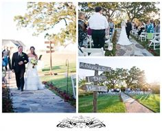 How sweet!  A bride and her dad walking down the aisle.