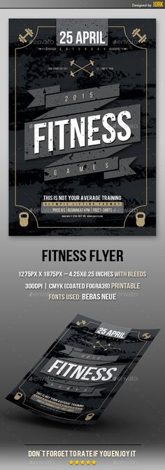 Fitness  Gym Sport Flyer Template  Flyer Template Gym And Template