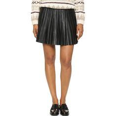 BB Dakota Jack Blaze Pleated Skirt ($56) ❤ liked on Polyvore featuring skirts, black, black skirt, pleated skirt, bb dakota skirt, elastic waist skirt and bb dakota