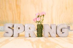 Spring Cement Letters DIY