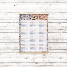 Elegant  Calendar Printable INSTANT DOWNLOAD Royal vintage floral liked on