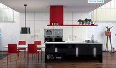 isla de cocina color negro para cocina moderna