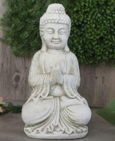 Cast Stone Garden Buddha Figurine - Buddha Groove