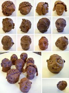 clay portraits