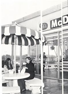 "Retro Memories - or should I say ""Big Mac Memories""? LOL  I do remember those umbrellas and concrete picnic tables, they even had those after the brown-brick facade remodel at the Oak Ridge site in the 70s and 80s.  That was prior to the ""Playland"" era."