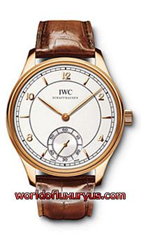 IW544503 - in 18 ct. rose gold with brown alligator leather strap, A tribute to the first Portuguese from 1939 in an 18 ct. white gold or 18 ct. rose gold (4N) case, IWC manufactured 98295 calibre hand-wound movement with Breguet spring, nickel-plated three-quarter plate made of nickel silver and elongated index (Jones style) - See more at: http://www.worldofluxuryus.com/watches/IWC/Discontinued-Models/544.503/185_789_3096.php#sthash.aghm5UrJ.dpuf