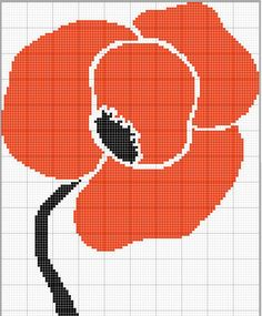 poppy cross stitch, for my sisters bedroom!!