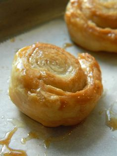 Cinnamon-sugar puff pastry wheels. Another great idea for a party.
