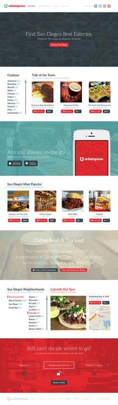 Urbanspoon Redesign on Web Design Served News Web Design, Modern Web Design, Graphic Design, Tool Design, App Design, Layout Design, Letterhead Design, Mobile Ui Design, User Experience Design