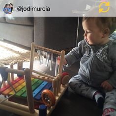 "One very happy customer... Thanks for sharing @jodimurcia ""Thank you @mashgiftware for shipping my melody mix all the way to South Africa I love it!!!"" #regramapp #woodentoys #music #toddlersofinstagram #babiesofinstagram"