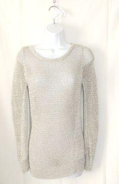 "NWOT Banana Republic Metallic Sweater Size Medium 29"" Long #BananaRepublic #bananarepublicsweater"