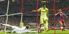Goal: Neymar Scoring | UEFA Champions League Semi Finals (2nd leg): Bayern Munchen 3 - FCB 2 | May 12, 2015. Aggregate: Barca 5 - 3. FC Barcelona going on to Champions League final.