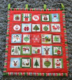 calendrier de l 39 avent tissu rouge et vert acheter pinterest calendrier de avent et. Black Bedroom Furniture Sets. Home Design Ideas