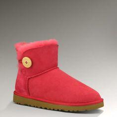 Women UGG Outlet Mini Bailey Button 3352 Crimson Ugg Boots Cheap, Mini Baileys, Ugg Bailey Button, Uggs, Calves, Mai, Shoes, Women, Style
