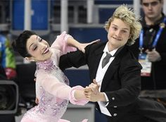 The amazing, confident, and joyful ice-skating champs, Meryl Davis and Charlie White of the United States, compete in the team ice dance short dance figure skating competition during the 2014 Winter Olympics.