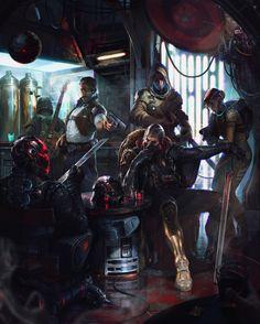 ArtStation - Cyberpunk bikers for Star Wars Reimagined challenge, Denys Tsiperko