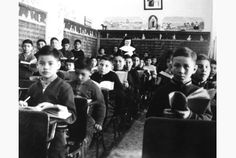 A classroom of St. Joseph's Residential School in Cross Lake, Man., in Residential Schools were predicated on the notion that Indigenous children were less human than other children, writes Jesse Staniforth. Mohawk People, Native Canadian, Residential Schools, Toronto Star, Aboriginal People, American Revolutionary War, Political System, A Classroom, First Nations