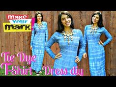 ▶ How to: Full Length T-Shirt Dress (Tie Dyed) - YouTube