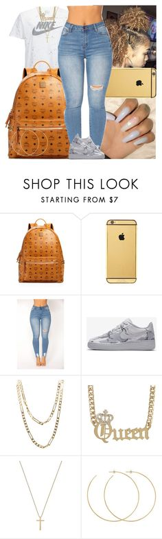 """""""Untitled #1657"""" by msixo ❤ liked on Polyvore featuring MCM, Goldgenie, NIKE, Cartier, Gucci and Allison Bryan"""