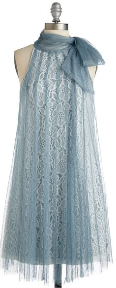 tulle overlay swing dress