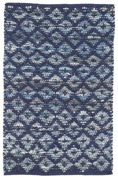This cotton denim rag rug from Dash and Albert features an inky indigo overlay adding modern geometric structure to a casual and worthy base. Dash and Albert rugs ship free at Lavender Fields. Coastal Bedrooms, Coastal Living Rooms, Coastal Curtains, Coastal Bedding, Curtains Living, Condo Living, Apartment Living, Coastal Style, Coastal Decor