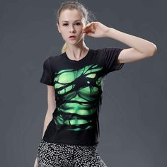 Superhero Style 20 Women Compression Shirt Short Sleeves