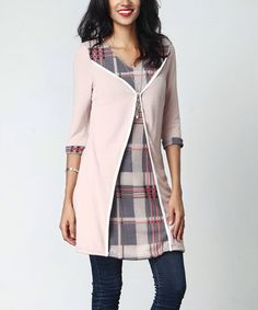 Love this Mauve & Plaid Panel Tunic on #zulily! #zulilyfinds