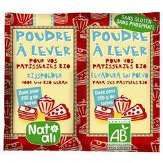 Poudre à lever bio Natali - g Sans Gluten Agriculture, Sans Gluten Ni Lactose, Salty Cake, Face Powder