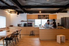 To know more about Landscape Products Interior Design 中野の住宅 Open Kitchen, Kitchen Dining, Interior And Exterior, Interior Design, Japanese House, Home Studio, Home Kitchens, House Plans, House Design