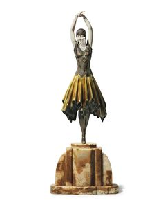 DEMETRE H. CHIPARUS (1886-1947) |  'MISS KITA' A SILVERED AND PATINATED BRONZE AND IVORY FIGURE, CIRCA 1928