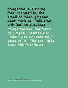 NOUGATINE free font by Fabien Laborie, via Behance