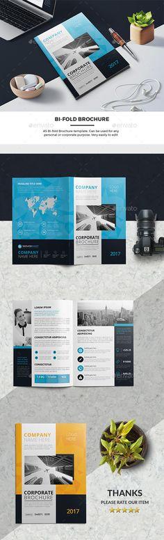 Corporate Bi-Fold Brochure 03 - #Corporate #Brochures Download here: https://graphicriver.net/item/corporate-bifold-brochure-03/19578886?ref=alena994