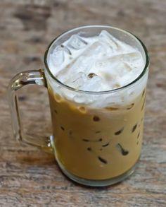 Café com Leite de Coco e Caramelo
