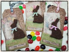 Fun! just found some brown felt and wondering what I was going to do!  thanks to @Tim Holtz fuzzy bunny idea