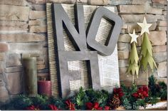 Noel Sign- Pottery Barn knock off