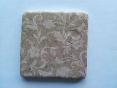 Brown Floral Tumbled Marble Coasters Set of by BaileyGirlCoasters, $15.00