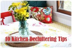 10 Kitchen Decluttering Tips