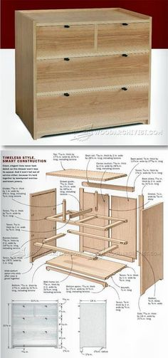 Small Chest of Drawers Plans - Furniture Plans and Projects | WoodArchivist.com #woodcraftprojects