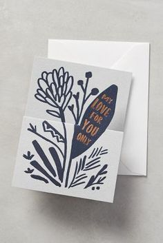 Anthropologie Growing Love Card #anthrofave
