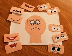This Make a face resources has 12 different sets of eyes and mouths and a set of emotions vocabulary flash cards. Help children to learn about emotions. Emotions Game, Emotions Preschool, Emotions Activities, Feelings And Emotions, Learning Activities, Preschool Activities, Teaching Resources, Teaching Emotions, Numbers Preschool