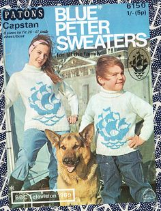 Blue Peter Motif Sweater / Jumper Aran Fisherans Knit weight sizes 26 - 41 ins - P&B 6150 - Vintage Knitting Patterns PDF Instant Downloa on Etsy, Fair Isle Knitting Patterns, Sweater Knitting Patterns, Knitting Yarn, Crochet Patterns, Knitting Needles, Vintage Knitting, Vintage Crochet, Retro Outfits, Kids Outfits