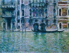 Claude Monet.Palacio de Mula en Venecia. 1908 (Impresionismo)