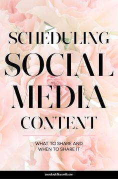 Scheduling Social Media Content - What to share and when to share it. The content you share on social media should be intentional. This post breaks down the types of content you should be sharing with your audience!
